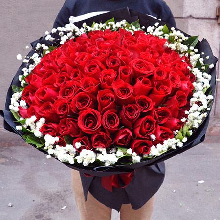 高档法式玫瑰花礼盒 顶级玫瑰