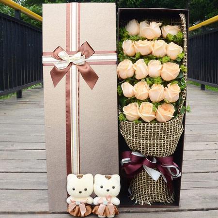 高档法式玫瑰花礼盒