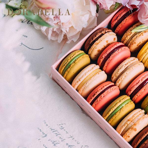 法式马卡龙甜点12粒礼盒