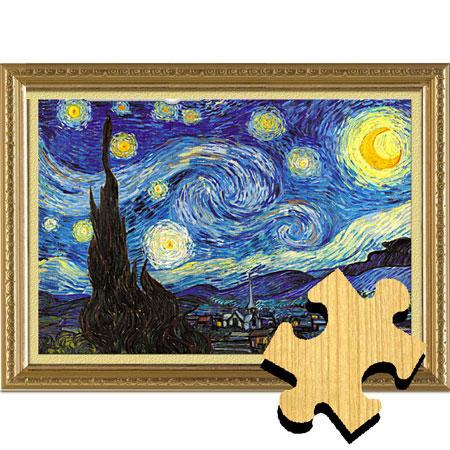 梵高星空1000片木质个性拼图