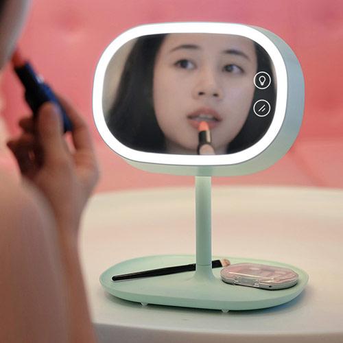 送女友MUDI创意LED台灯化妆镜