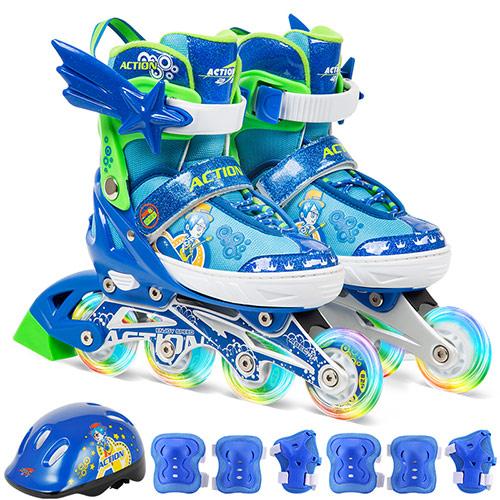 卡通儿童溜冰鞋套装