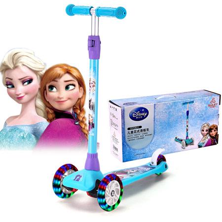 迪士尼儿童闪光滑板车