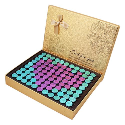 金色心形巧克力礼盒 纯可可脂