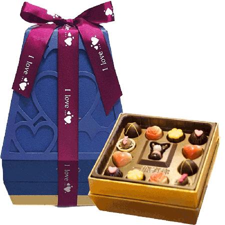 魔吻心形巧克力礼盒 纯可可脂