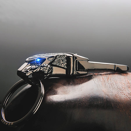 男士豹头汽车钥匙扣 个性刻字
