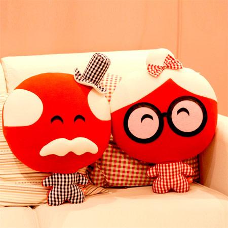 创意喜字婚庆抱枕 压床娃娃