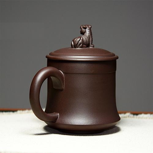 藏龙卧虎宜兴紫砂茶杯