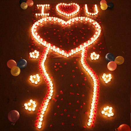 浪漫表白创意蜡烛套餐 送眼罩
