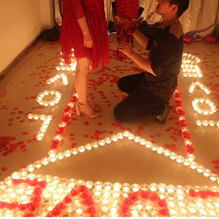 浪漫表白创意蜡烛套餐