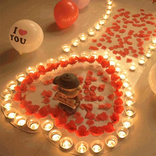 浪漫求爱蜡烛套餐 表白必备