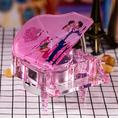 婚庆水晶钢琴音乐盒定制