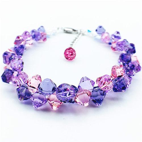 天然紫玉髓水晶手链 浪漫手链