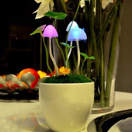 阿凡达LED光控感应蘑菇灯