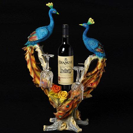 陶瓷情侣孔雀对杯 结婚礼物
