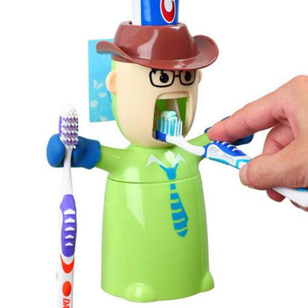 自动挤牙膏公仔 新奇特礼物