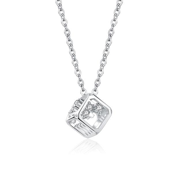 爱情魔方创意纯银项链