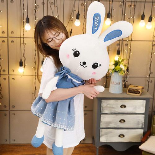 可爱love兔毛绒公仔 兔子玩偶