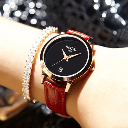 韩版时尚真皮女士手表
