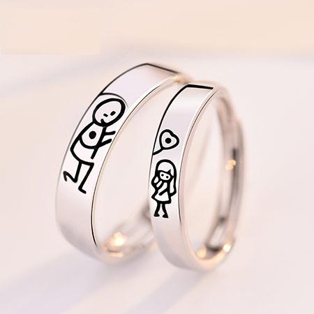 王子与公主情侣戒指 创意礼物