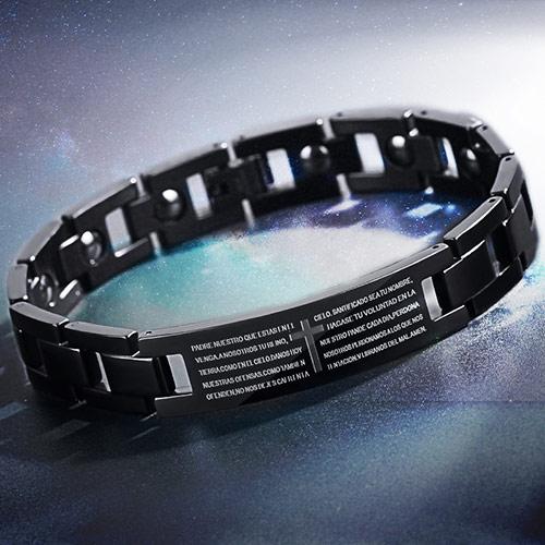 韩版时尚钛钢手链 个性刻字