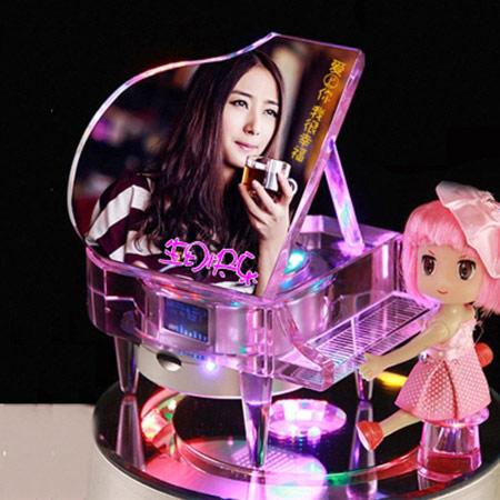 水晶钢琴音乐盒定制