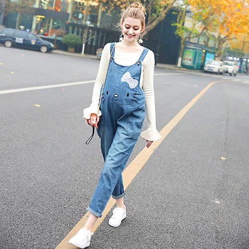 时尚韩版孕妇背带裤 孕妇托腹裤