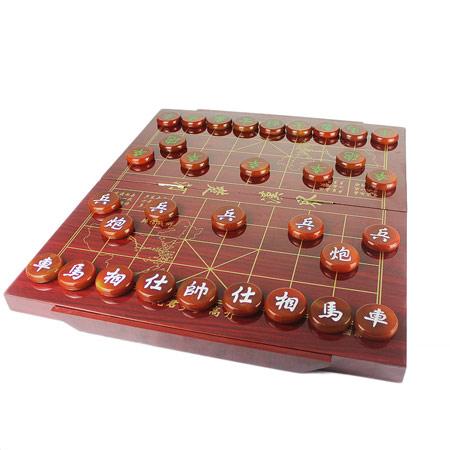 高档天然玛瑙中国象棋 实木棋盘