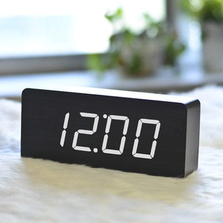 创意木块夜光闹钟 实用特别礼物