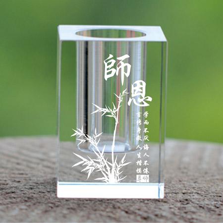 创意高档水晶笔筒 个性刻字