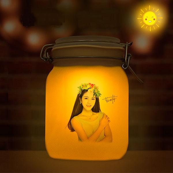 七彩色阳光罐 存储阳光的罐子