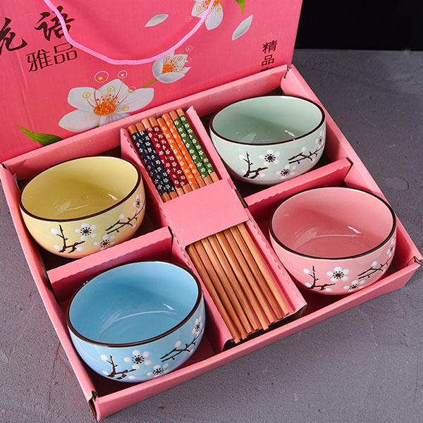 中国风青花瓷餐具礼盒套装