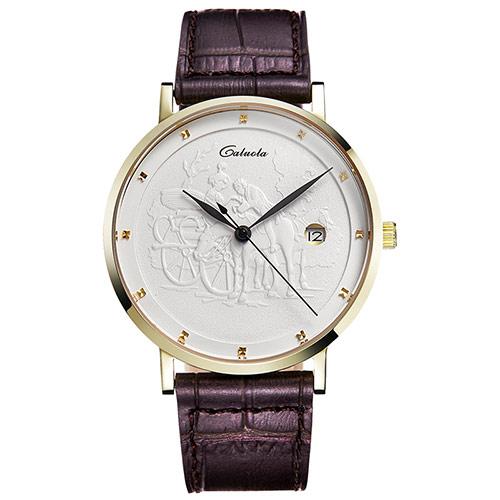 超薄真皮时尚石英腕表
