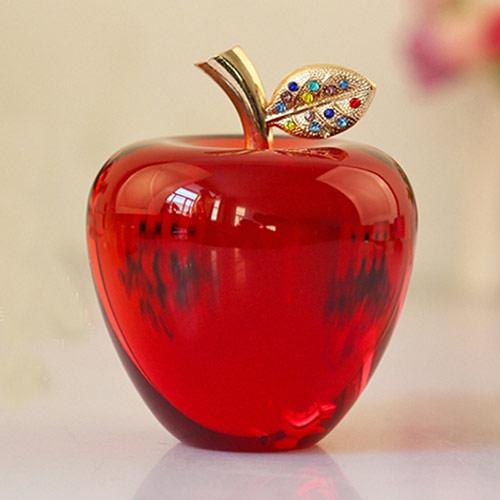 圣诞水晶苹果旋转摆件 个性定制