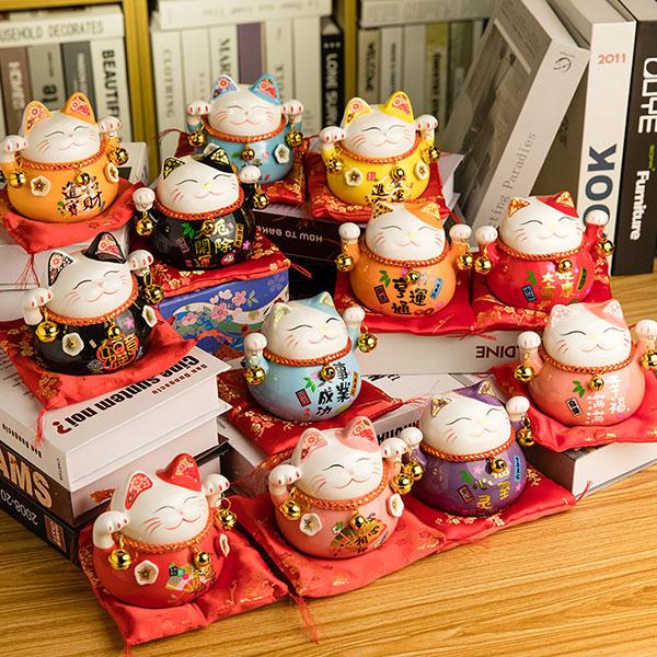 日本送福招财猫 金色招财猫