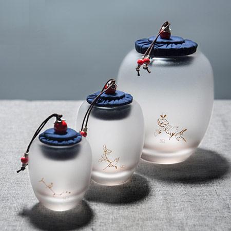 高档琉璃茶叶罐 罐身定制