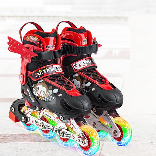 迪士尼儿童轮滑鞋套装 闪光溜冰鞋