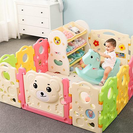围栏式宝宝爬行球池 婴儿玩具