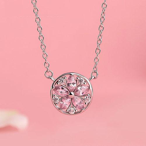 韩版玫瑰金毛衣链 水晶项链