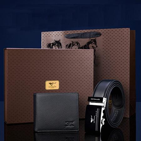 七匹狼皮带钱包皮具礼盒