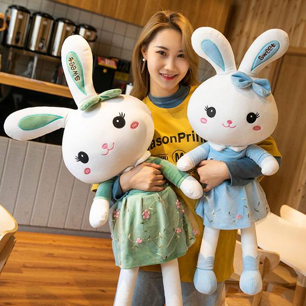 可爱公主兔大号公仔 兔子玩具