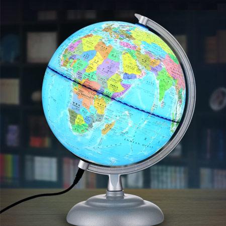创意高清地球仪夜灯 床头灯