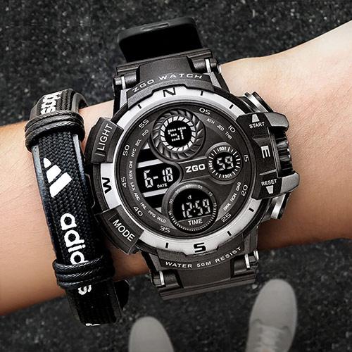 时尚学生运动手表 双显潮表