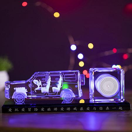 创意水晶车模摆件 个性定制