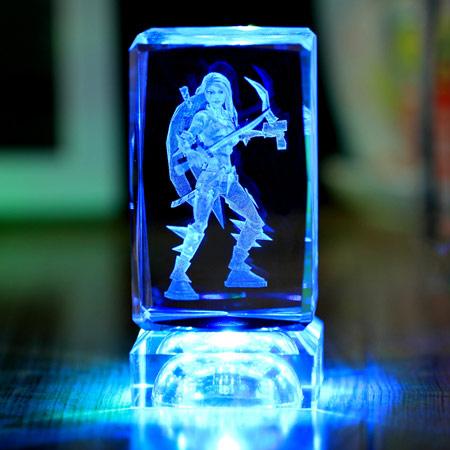英雄联盟定制水晶 炫彩发光