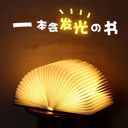 创意木质LED书灯 USB充电