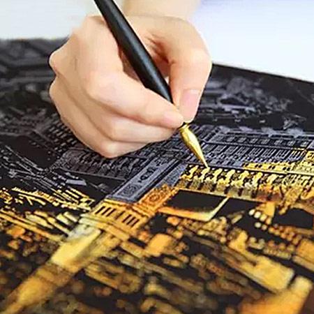 韩国城市夜景刮刮画 减压神器