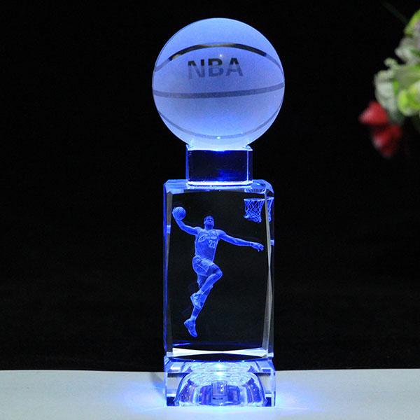NBA水晶篮球摆件