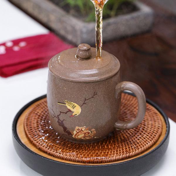 高档段泥紫砂茶杯