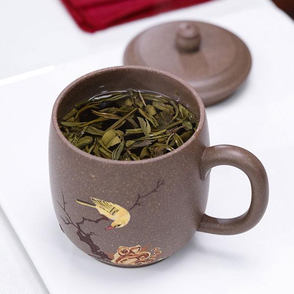 花好月圆紫砂茶杯
